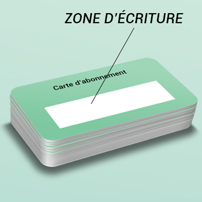 Carte en plastique, carte en PVC 3 COPY-TOP