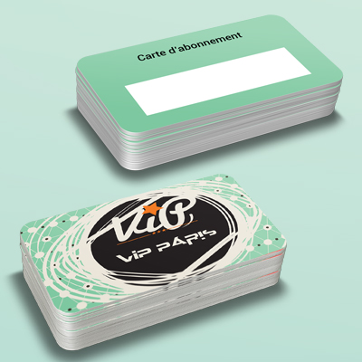 Carte en plastique, carte en PVC 1 COPY-TOP